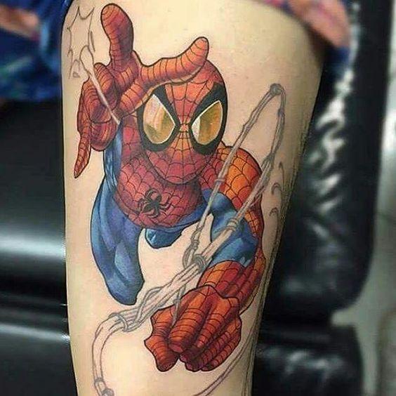 Spider Man Tattoo Bagley